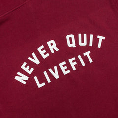 Never Quit Hoodie- Cardinal