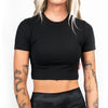 Athleisure Crop Tee- Black