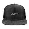 Denim Trucker Snapback - Black