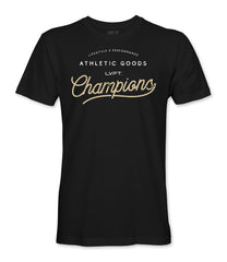 Live Fit Apparel Champion Tee - Black- LVFT