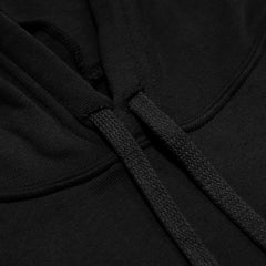 Throwback Crop Hoodie- Black