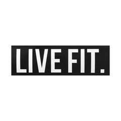 "Live Fit. 8""  Sticker -  Black"