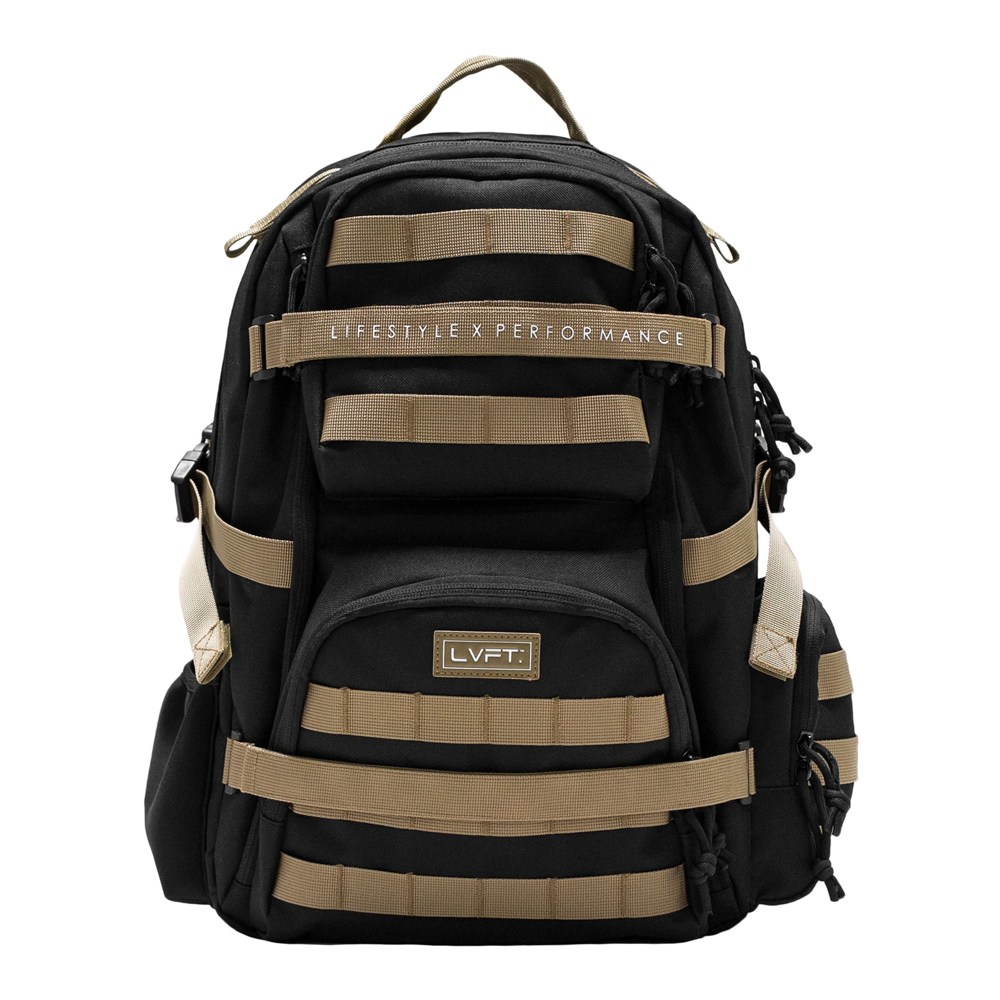 Tactical Backpack- Black/ Tan