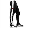 Slim Trackies - Black/Black-Red Logo