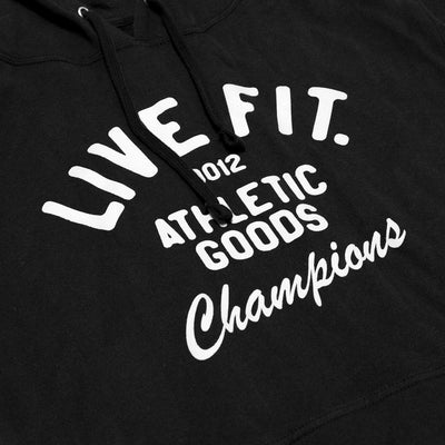 Live Fit Apparel Athletic Goods Hoodie - Black - LVFT