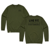 Block Crewneck - Military Green