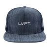 Denim Trucker Snapback - Navy