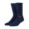 Stamped Socks - Navy
