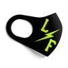 Bolt Face Mask - Black/Neon