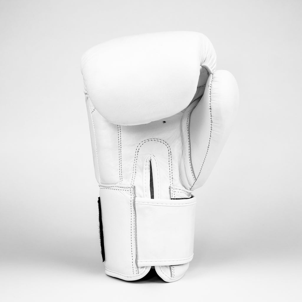Live Fit Apparel Boxing Gloves - All White Premiums - LVFT