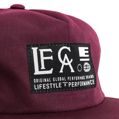Live Fit Apparel Globe Unconstructed Snapback- Maroon - LVFT