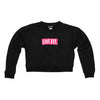 Live Fit Apparel Block Crop Crewneck- Black/Pink - LVFT
