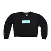 Live Fit Apparel Block Crop Crewneck- Black/Teal - LVFT