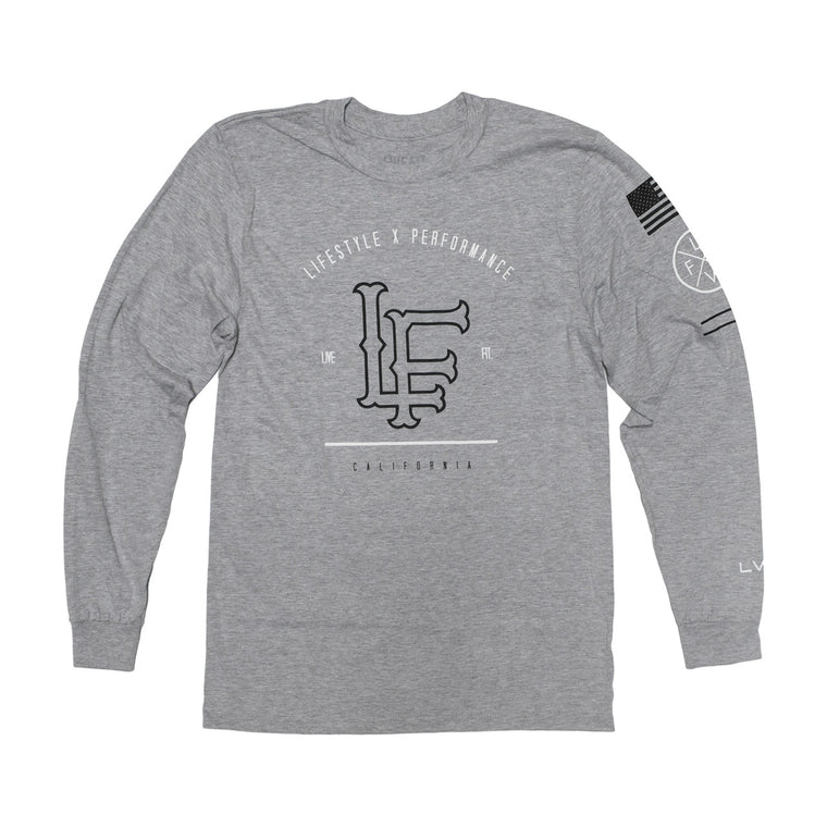 California Long Sleeve- Heather Grey