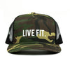 LIVE FIT. Camo Trucker Cap