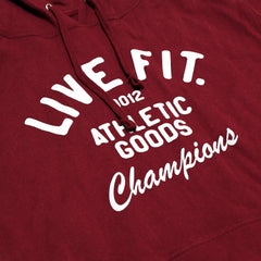 Athletic Goods Hoodie - Burgundy