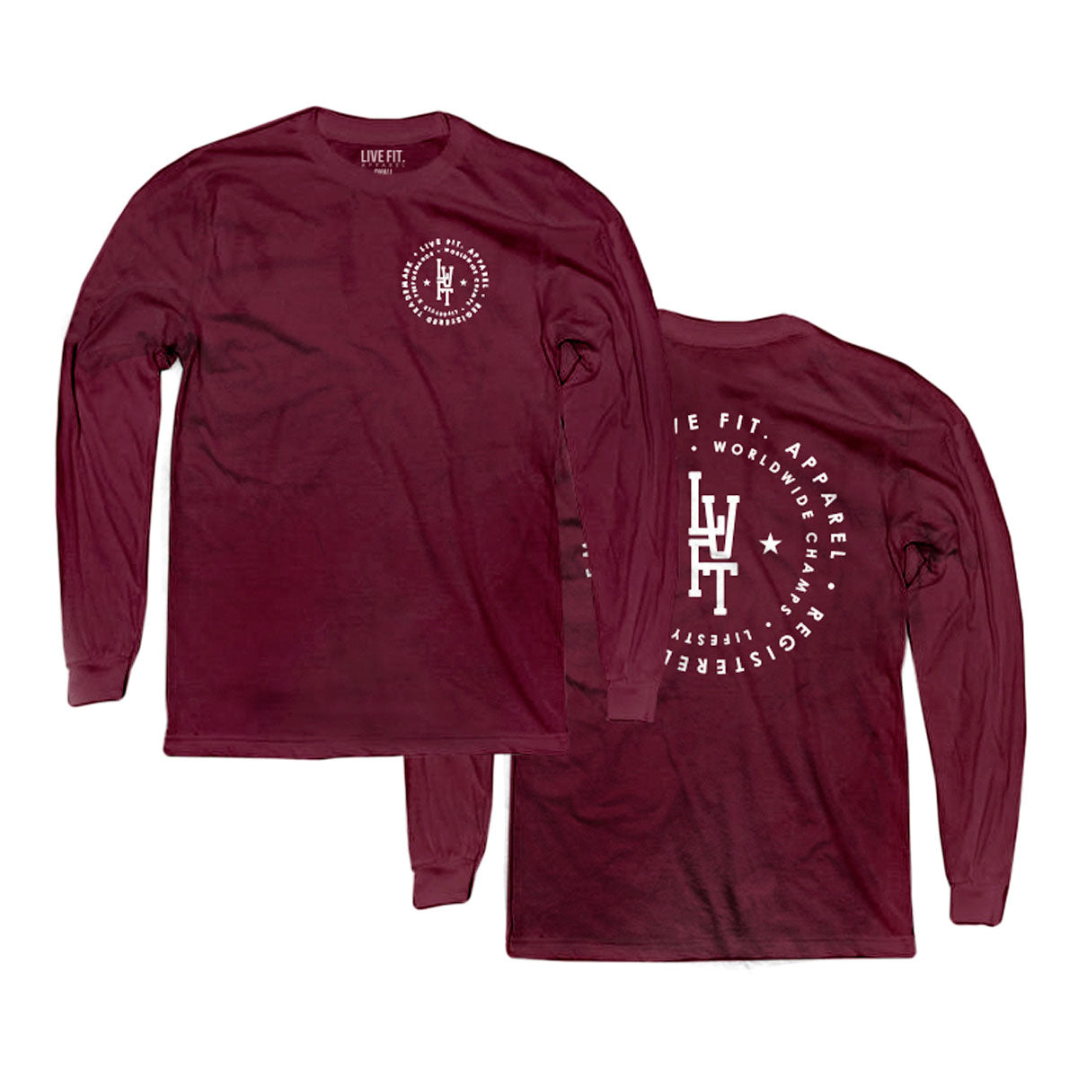 Champs Long Sleeve - Burgundy/White