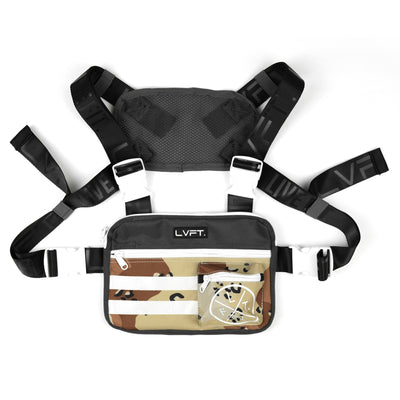 Tactical Chest Rig - Charcoal / Desert Camo