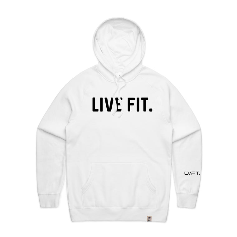 Classic Live Fit Hoodie - White / Black