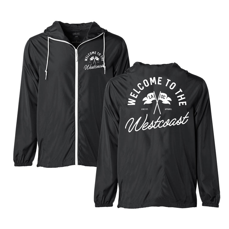 County Windbreaker - Black / White