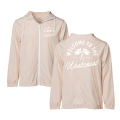 Live Fit Apparel County Windbreaker - Tan / White - LVFT