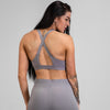Cross Back Solid Sports Bra - Lavendar
