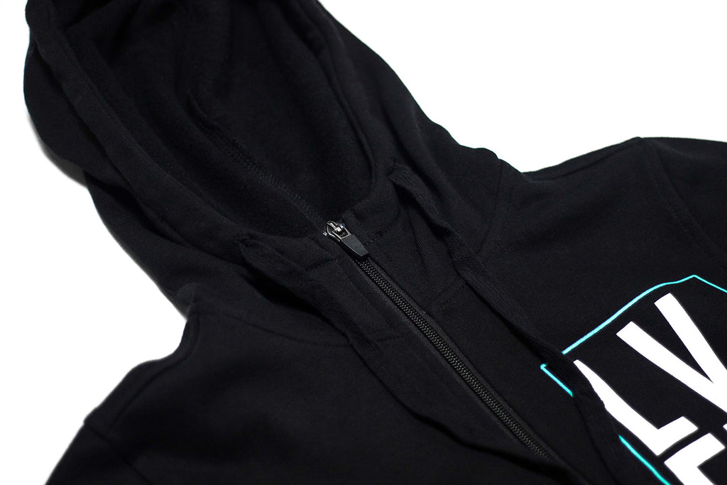 Women's Stacked Zip Up- Black