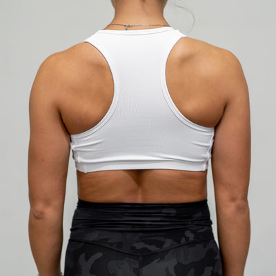 Live Fit Apparel Gold Edition Sports Bra - White - LVFT