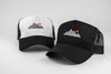 Mountain Trucker Cap - Black/White