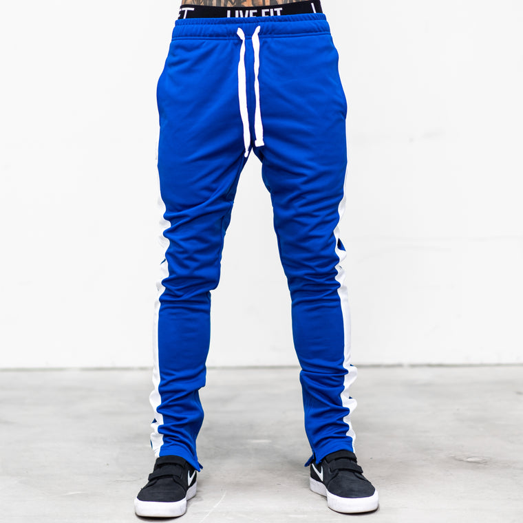 LVFT. Slim Trackies - Royal/White