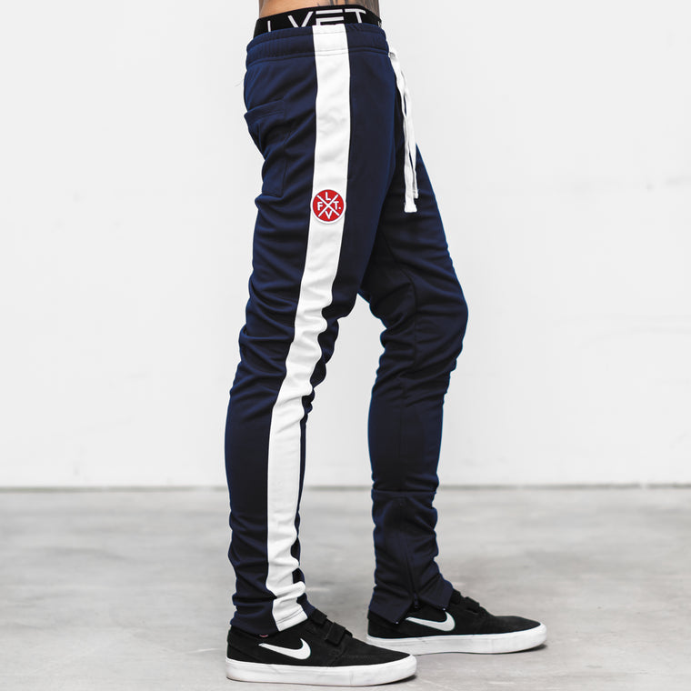 LVFT. Slim Trackies - Navy/White