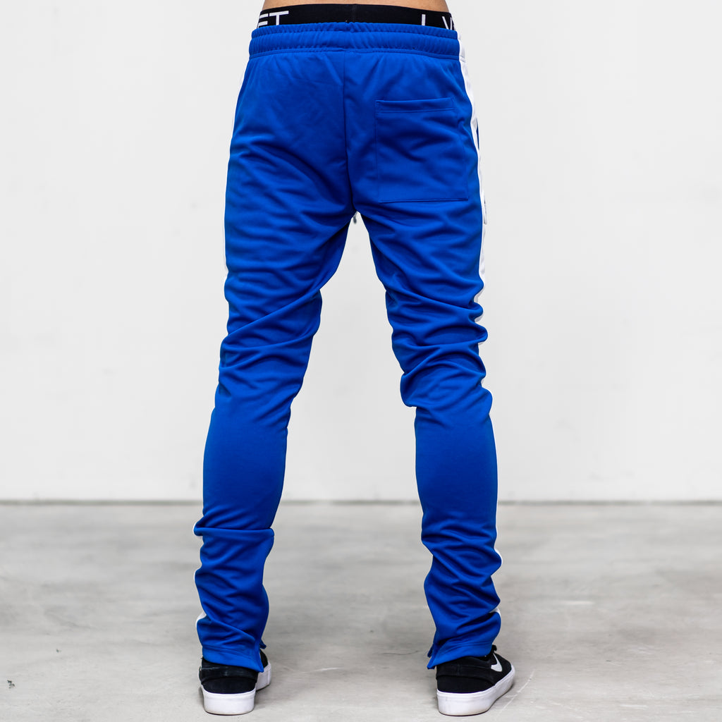 Live Fit Apparel LVFT. Slim Trackies - Royal/White - LVFT