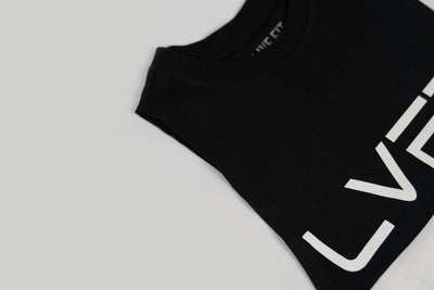 Live Fit Apparel Divided Tank -Black/White - LVFT