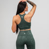 Vintage Wash Sports Bra-  Jade