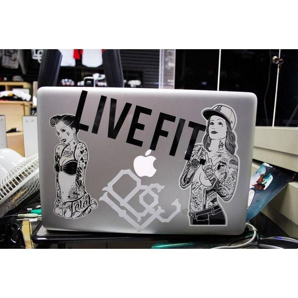 LIVE FIT. Decal