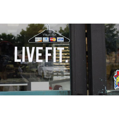 Live Fit Apparel LIVE FIT. Decal - LVFT