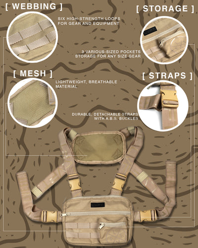 Tactical Chest Rig - Khaki