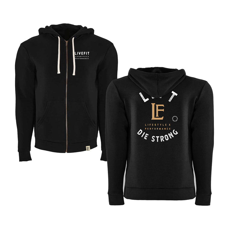 Die Strong Zip Up - Black