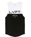 Live Fit Apparel Divided Tank -White/Black - LVFT