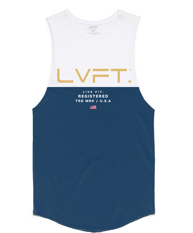 Divided Tank -White/Blue
