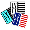 Live Fit Apparel Flag Sticker Pack - LVFT
