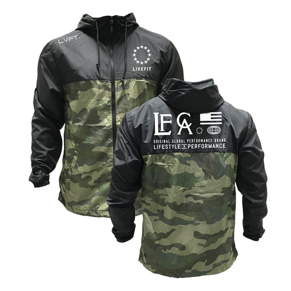 Hardline Windbreaker- Black/Camo