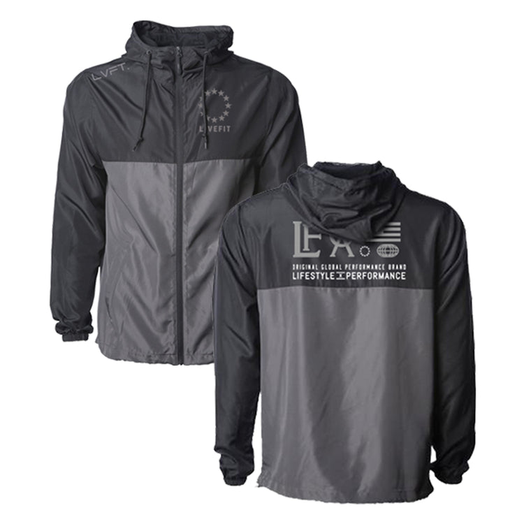 Hardline Windbreaker- Black/Grey