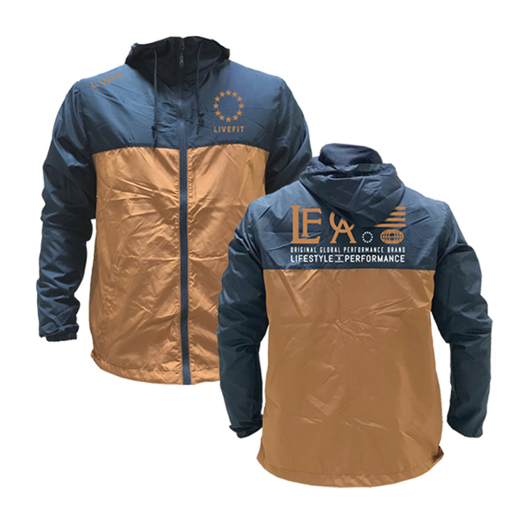 Hardline Windbreaker- Navy/Copper