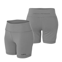 Performance Mid Waisted Shorts - Graphite