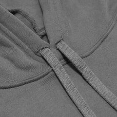 Throwback Crop Hoodie- Grey