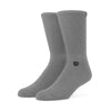 Stamped Socks - Heather Grey