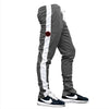 Slim Trackies - Grey/Black-Red Logo