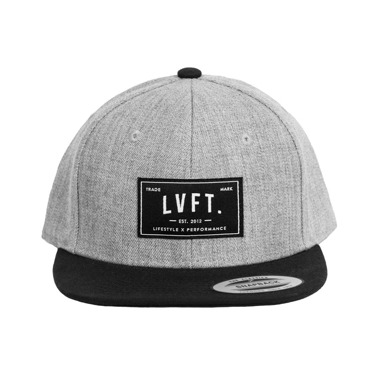 Classic Snapback- Heather Grey/Black