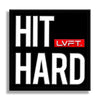 "Hit Hard PVC Patch - 2.5"" x 2.5"""